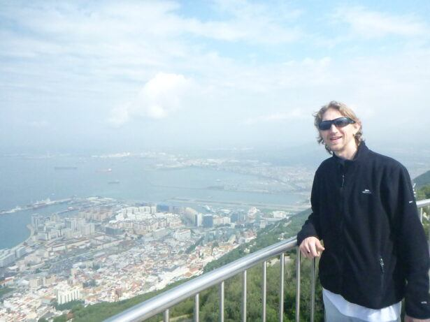 Top of the Rock - Highest Bar in Gibraltar - have a beer looking at Africa from Europe