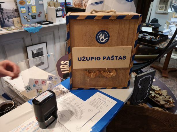 Getting my first passport stamp in 19 months - in the Republic of Uzupis